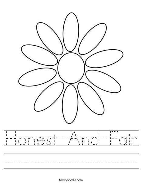 Honest And Fair Worksheet Twisty Noodle Girl Scout Daisy