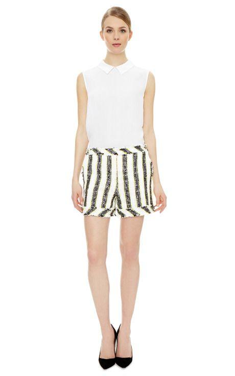 MSGM Nubby Stripe Shorts  $240