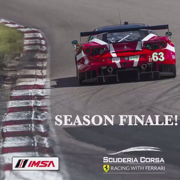 """ScuderiaCorsa on Twitter: """"Countdown to @IMSA #PLM Finale!12-turn, 2.54mi, 10hrs of racing adrenaline awaits this w/e for Championship & #PatronEndurance contention💪 https://t.co/6SxrwUDDh0"""""""