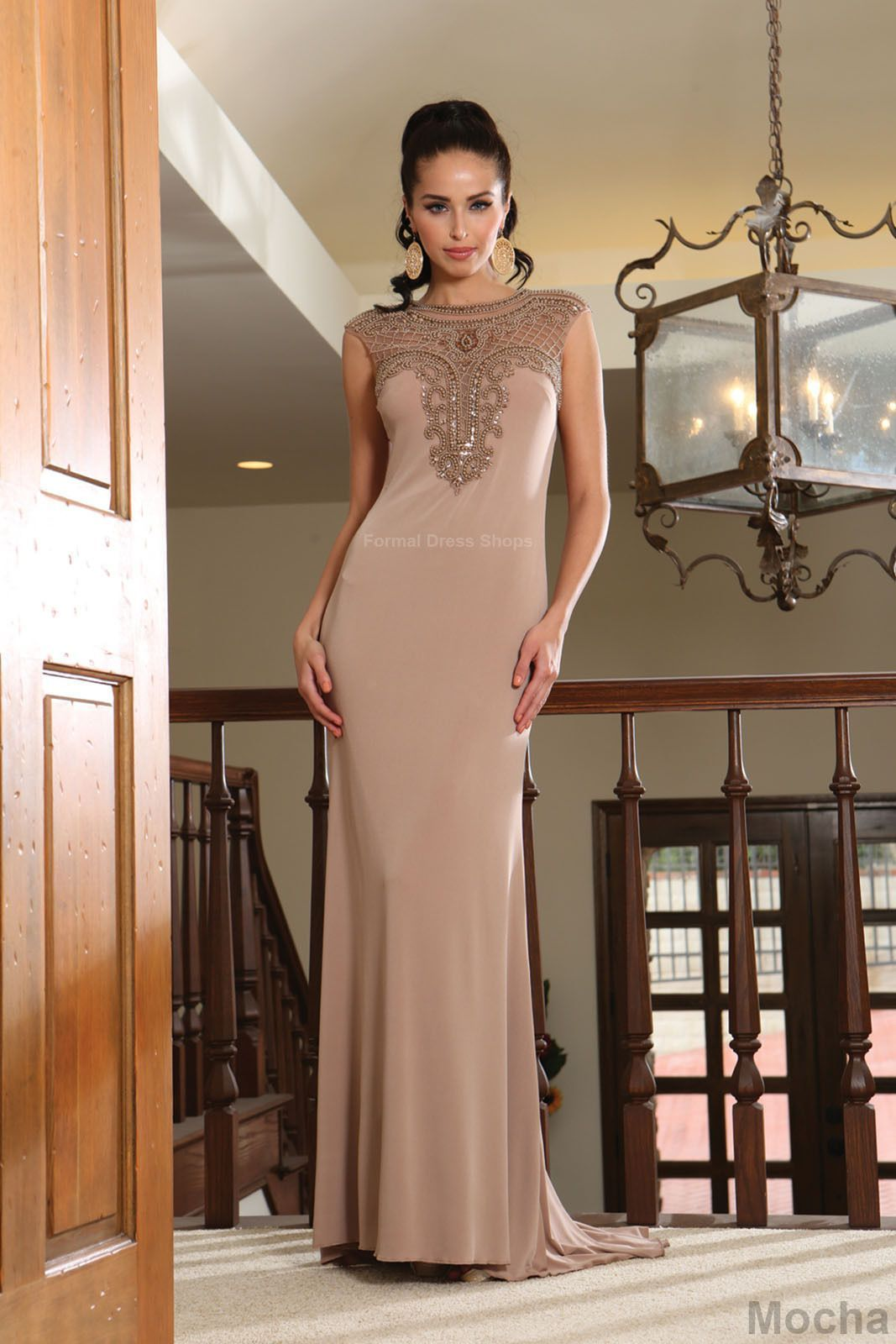 Evening formal prom dress sister of bride long stretchy gown under