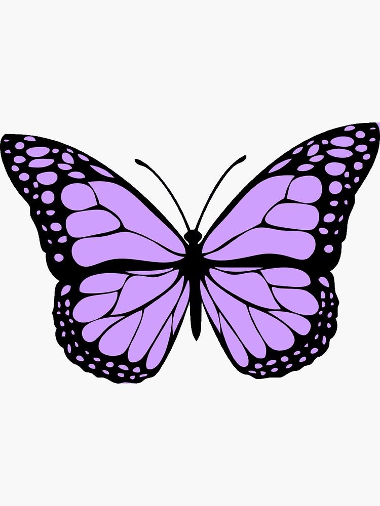 Light Purple Butterfly Sticker By Karestolarczyk Butterfly Art Painting Purple Butterfly Purple Butterfly Tattoo