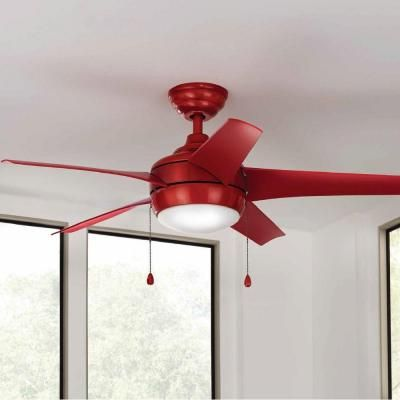 Home Decorators Collection Windward 44 In Indoor Red Ceiling Fan