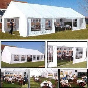 Heavy Duty 6m X 12m Waterproof Wedding Tent Marquee Gazebo Canopy Carport White Bunting Gazebo Canopy Tent Decorations Tent