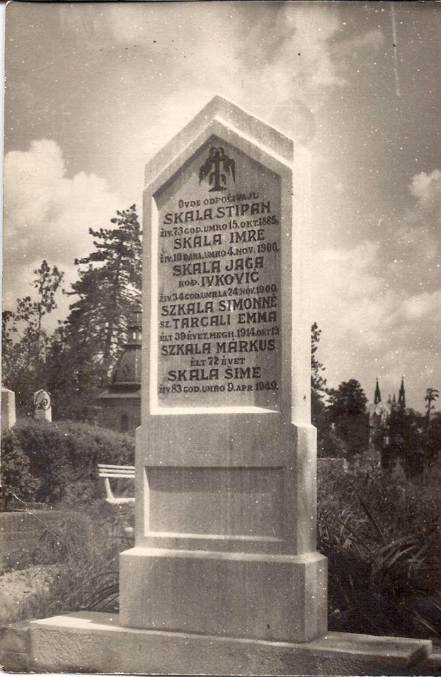 Skala / Szkala grave stone in Subotica