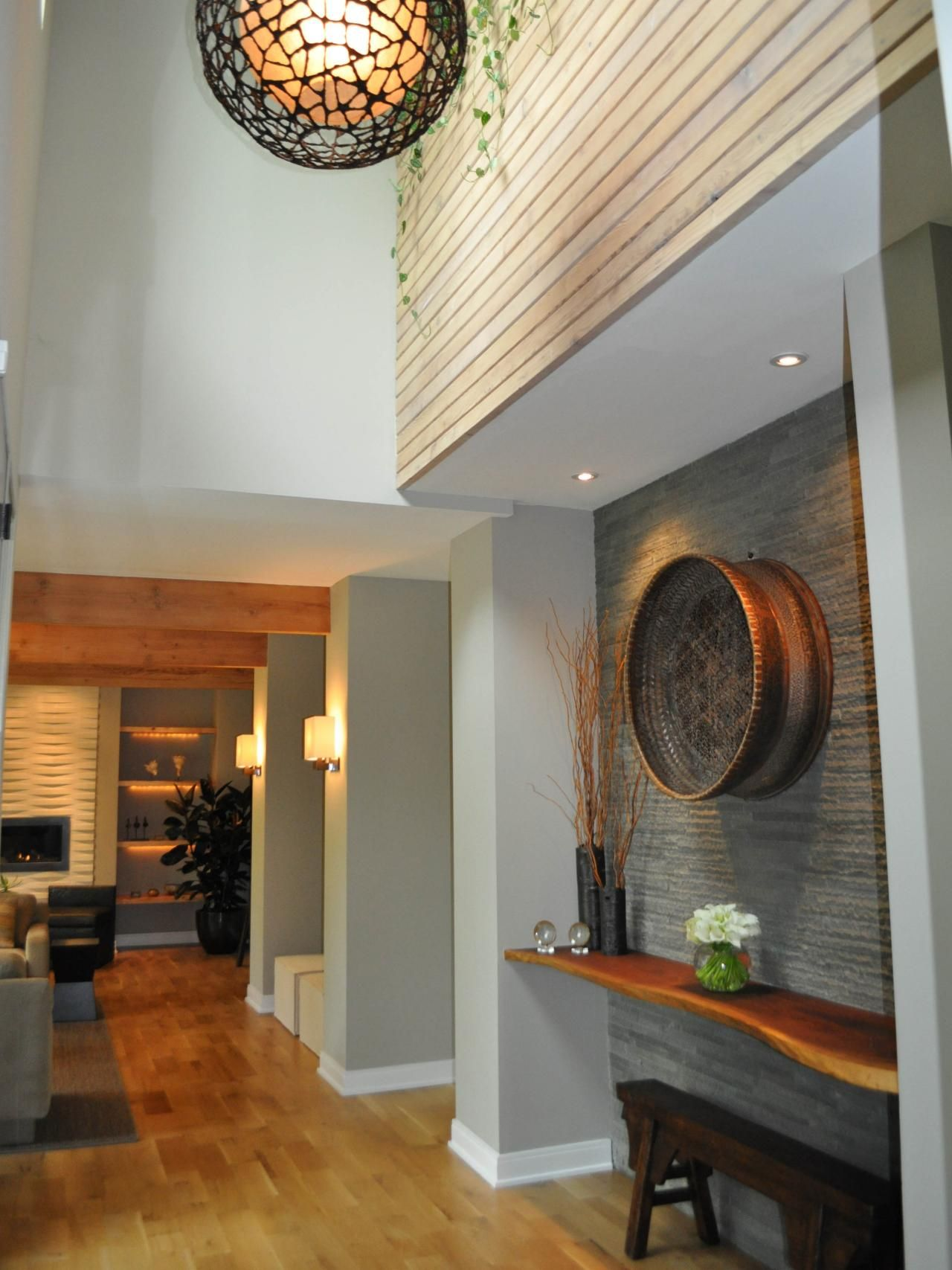 This Contemporary Foyer Lends Itself To Natural Finishes
