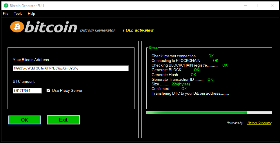 Bitcoin Generator can help u add your bitcoins instantly to your own