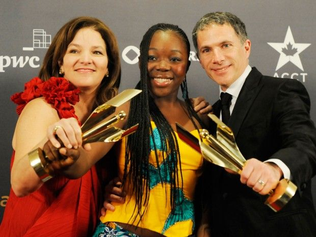 """""""War Witch"""" swept away nearly all competition at the inaugural Canadian Screen Awards broadcast gala Sunday night, with the child soldier drama capturing best picture and nine other trophies. (via CBC News; photo via Jon Blacker/Reuters)"""