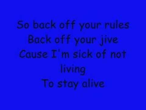 All I Want The Offspring With Lyrics Youtube Lyrics All I Want Staying Alive