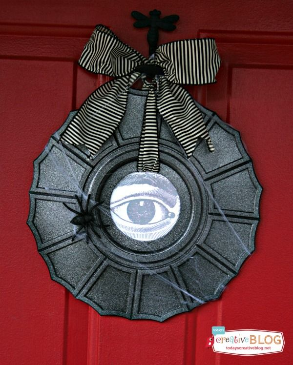Ceiling Medallion Halloween Wreath