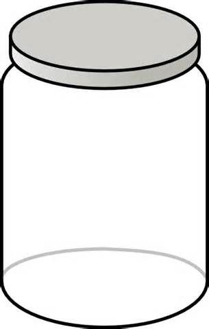 Empty Jar Coloring Page Coloriage Verrine Vide
