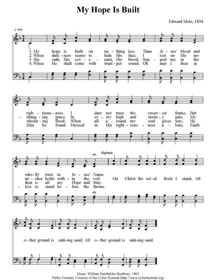 Lyric on the wings of a snow white dove lyrics : My Hope Is Built.jpg (699×904) | Hymns | Pinterest | Songs ...
