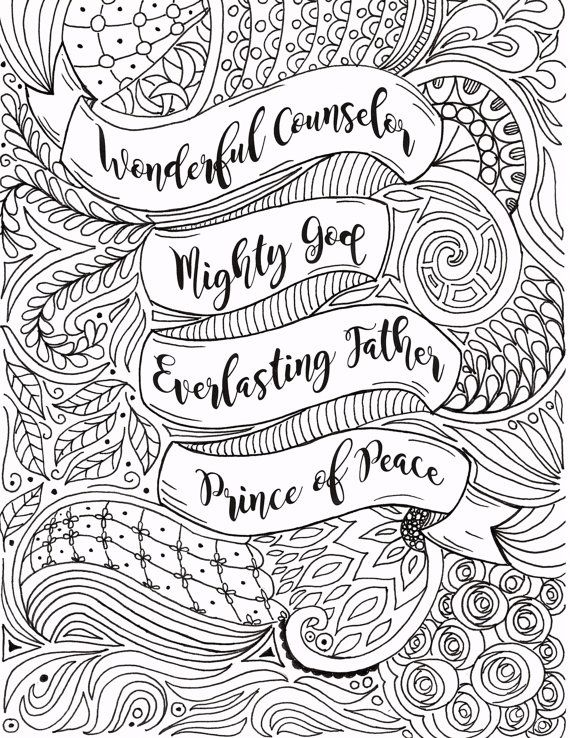 Here Is A Christmas Coloring Page That Referenced Isaiah 9 6 I