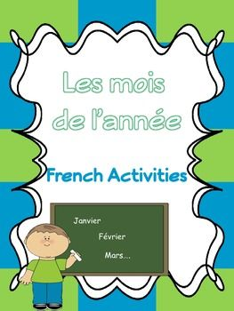 les mois de l 39 ann e french activities free language printables teaching french french. Black Bedroom Furniture Sets. Home Design Ideas