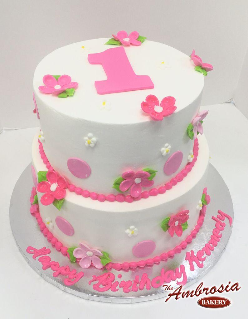 Dots & Flowers | The Ambrosia Bakery Cake Designs- Baton Rouge, La ...