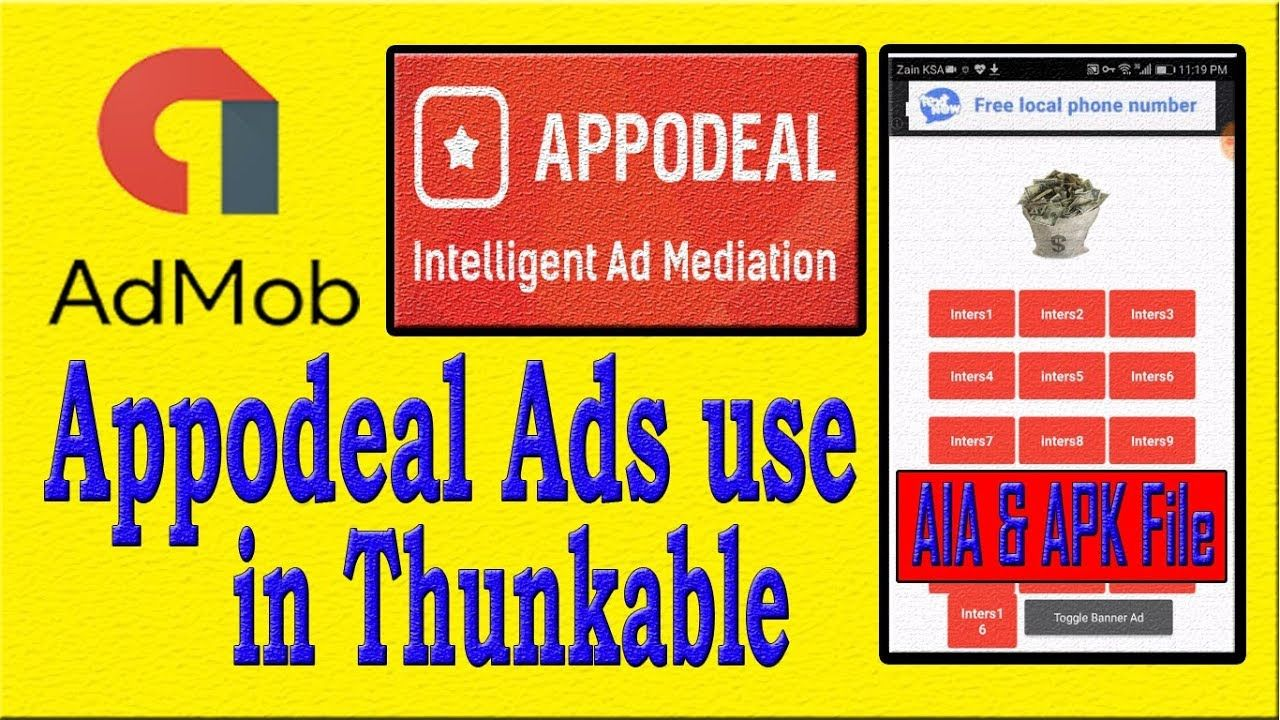 How to use Appodeal Ads in Thunkable (aia File) Urdu 100