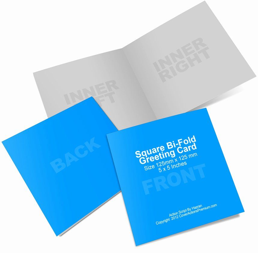 Bi Fold Card Template Fresh Square Bi Fold Greeting Card Mockup In 2020 Card Template Greeting Card Template Templates
