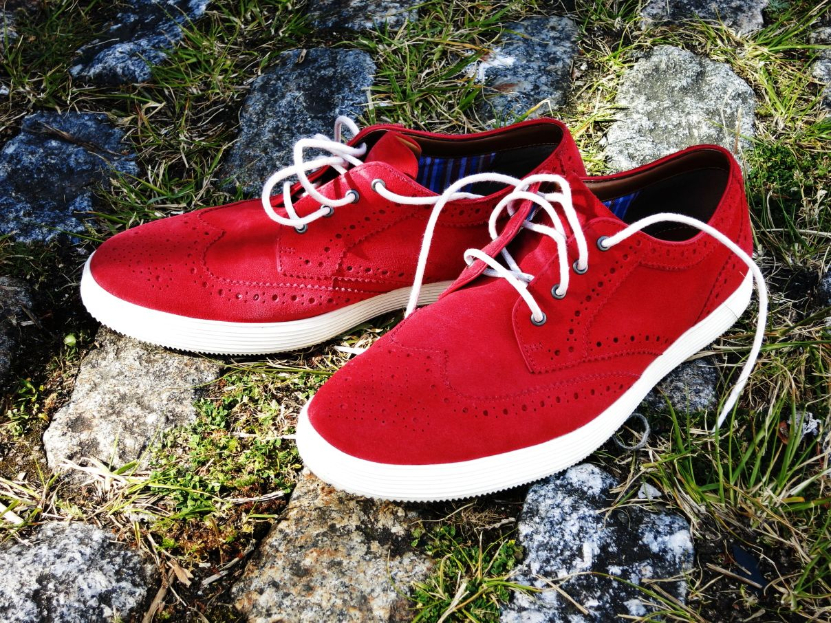 Zapatos rojos casual para hombre 5rBzSm