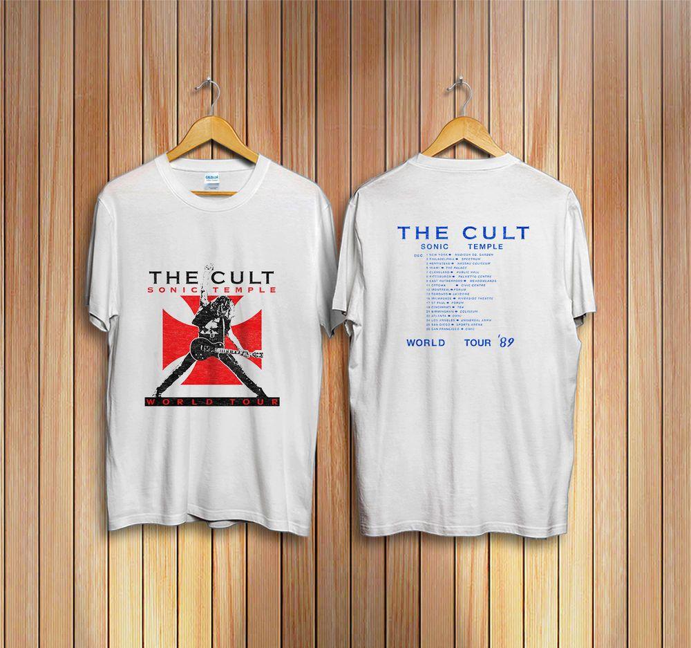 f58fc437 Vintage The Cult Sonic Temple 89 Tour T-Shirt Gildan Reprint #fashion  #clothing