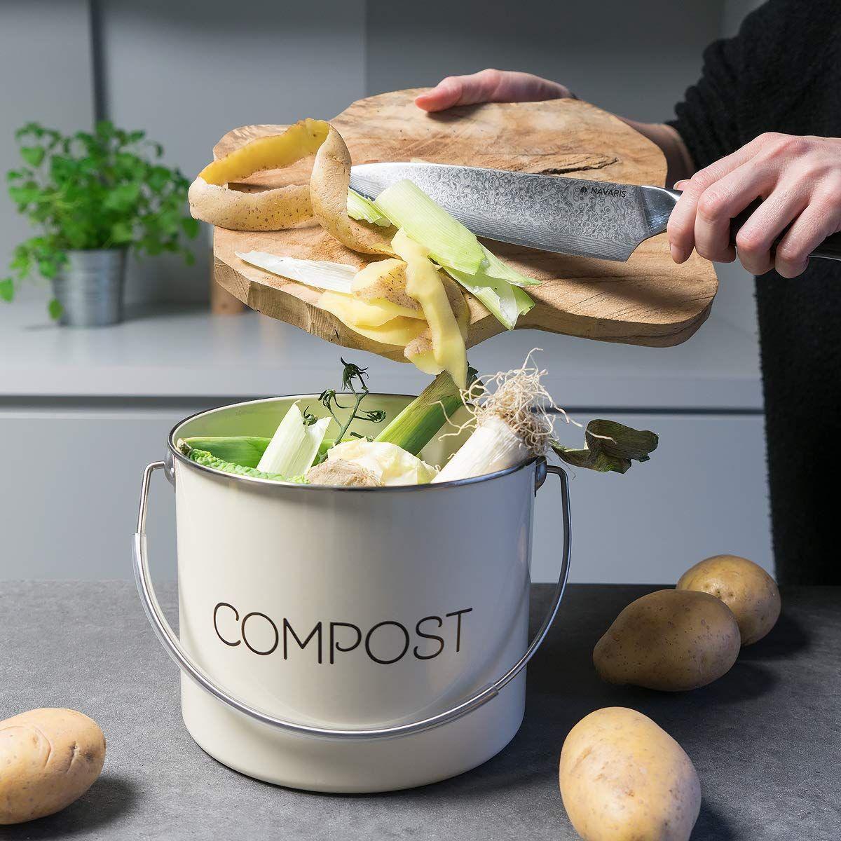 Navaris Komposteimer Mülleimer Abfalleimer für Biomüll in 20