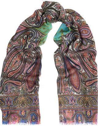 Paisley-printed cashmere scarf Etro GXGmqx