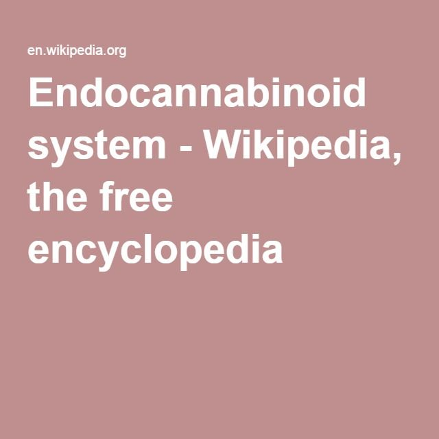 Endocannabinoid system - Wikipedia, the free encyclopedia