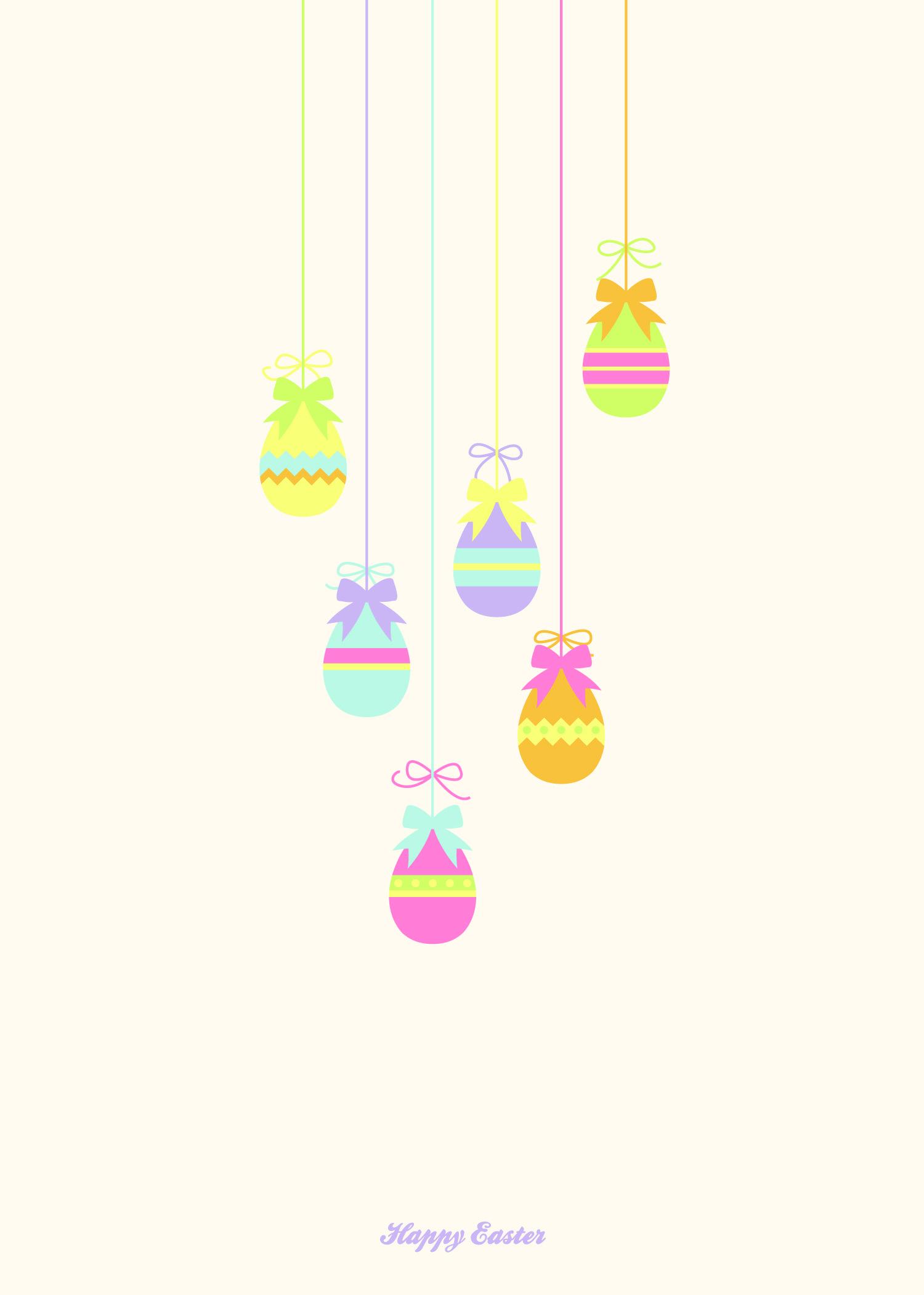 Easter Card   Easter Eggs
