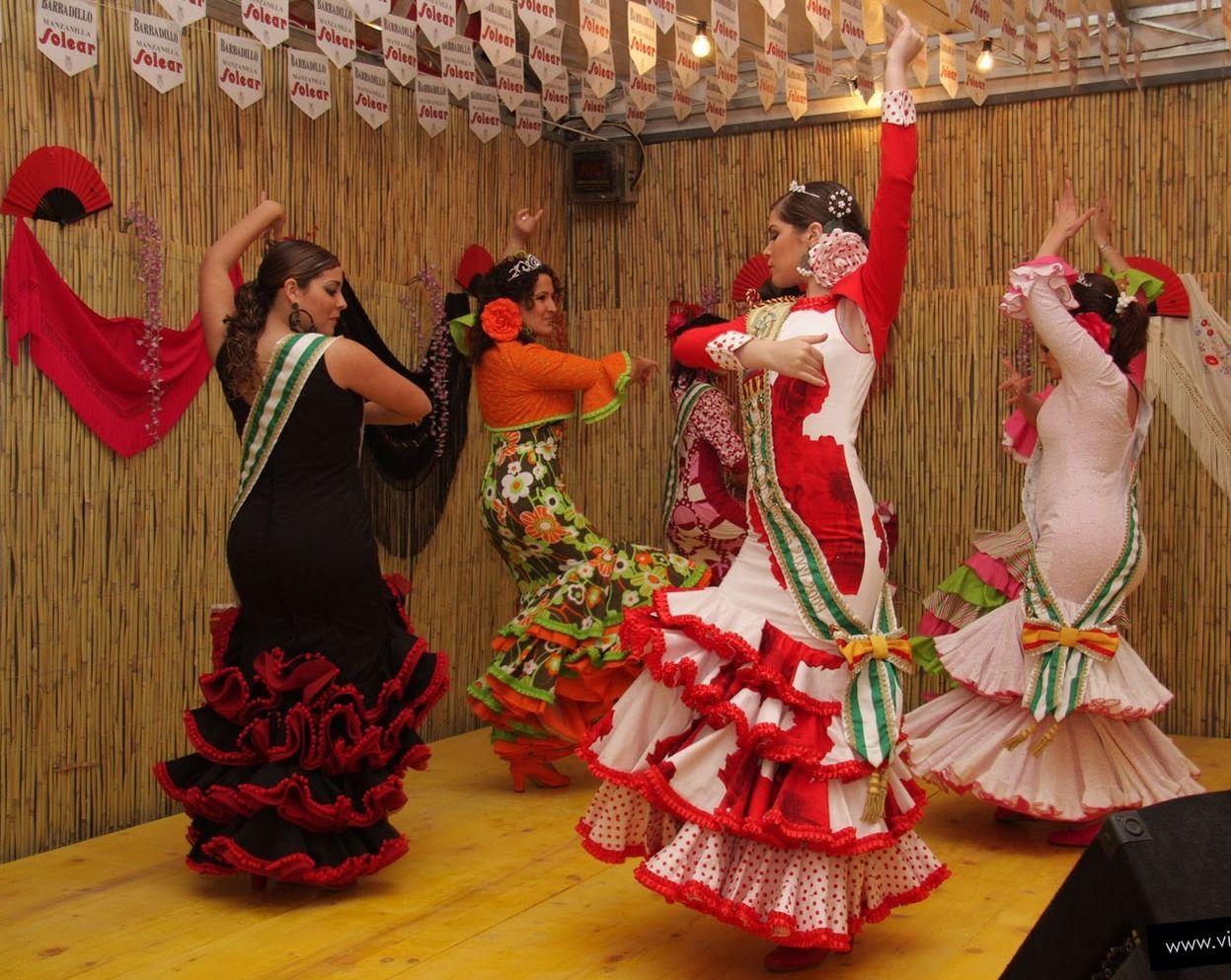 Feria de Sevilla ~ Festival in Seville Spain with Flamenco dancers