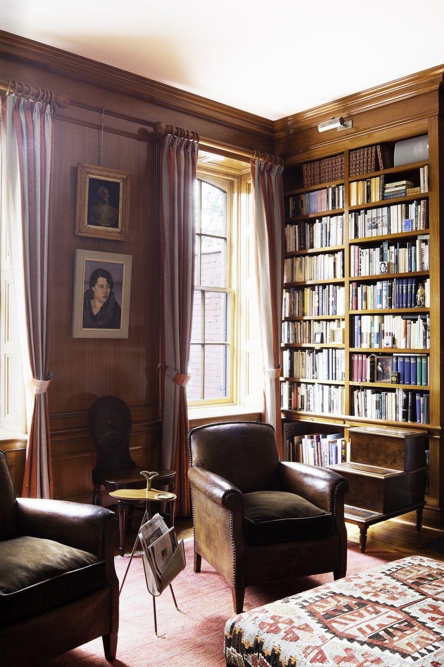 Wood Paneled Library: Designer Sheila Bridges On Bringing Color To History
