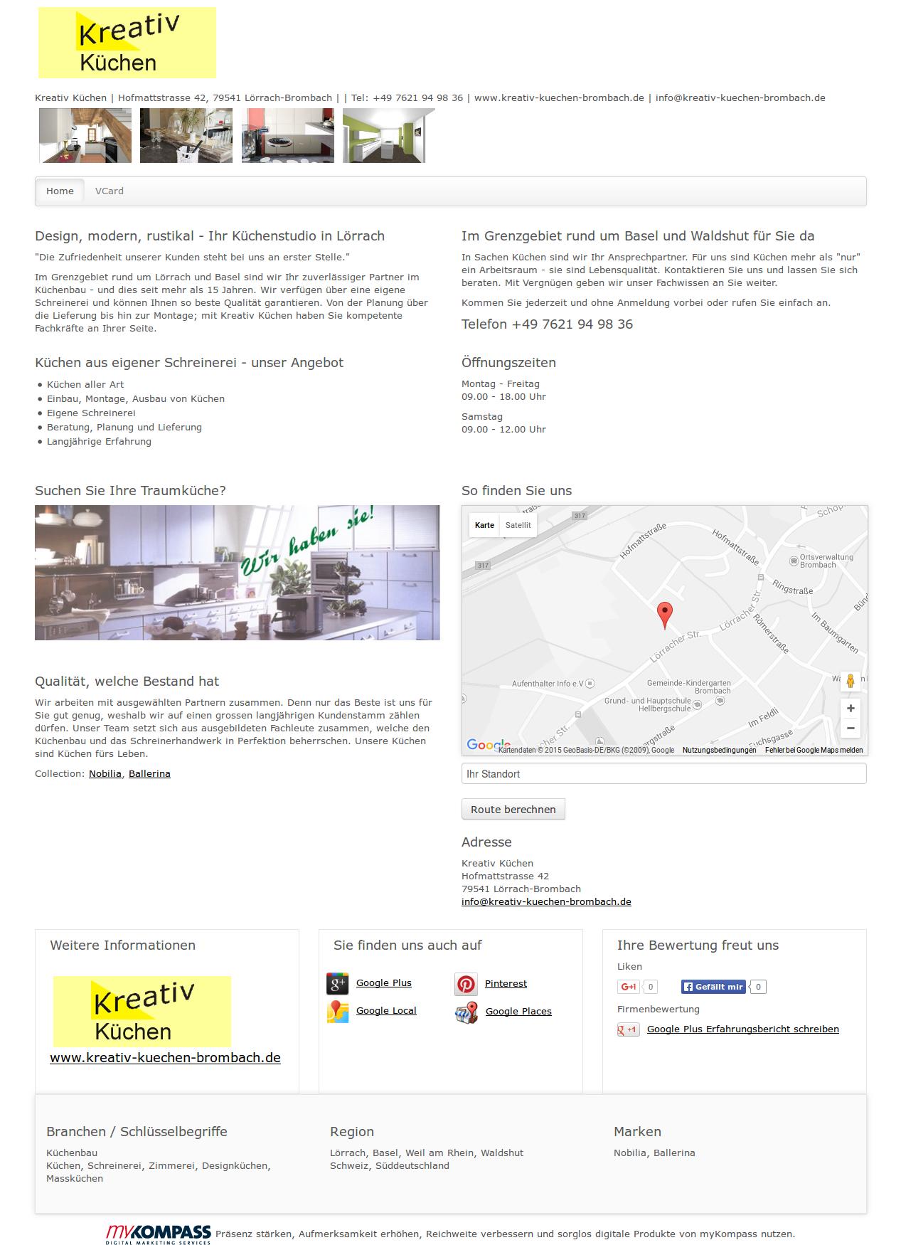 Kreativ Küchen, Lörrach-Brombach, Küchenbau, Küchen, Schreinerei ...