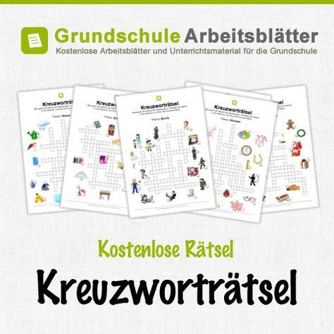 kostenlose kreuzwortr tsel f r kinder schule apprendre l 39 allemand langue allemande und. Black Bedroom Furniture Sets. Home Design Ideas