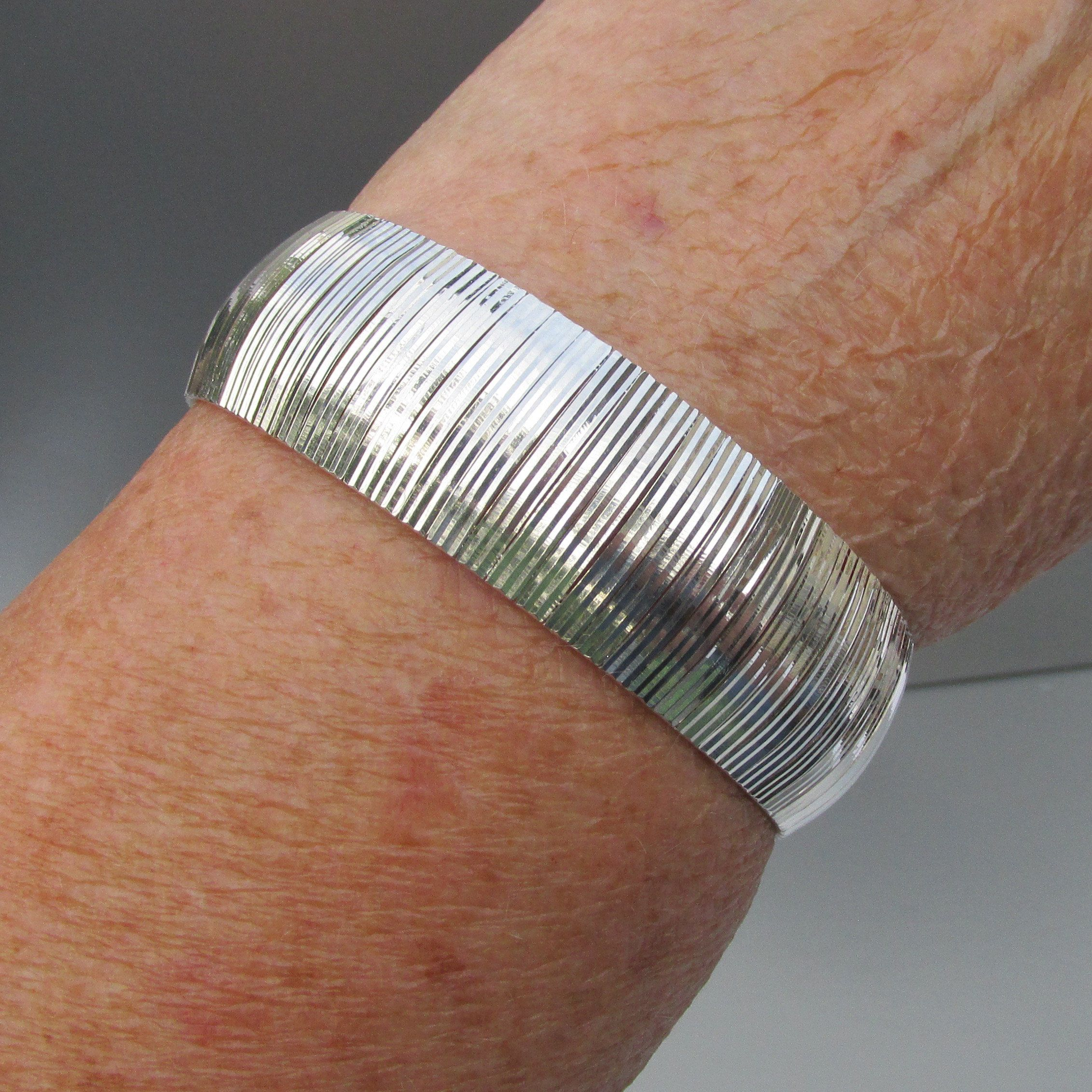 Vintage woven rhinestone wide bracelet
