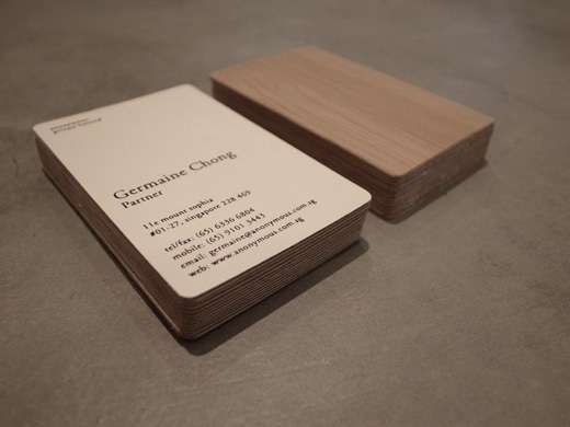 Bamboo business cards business cards business and graphic design these business cards by anonymous are lovely and sustainable businesscards trendhunter colourmoves