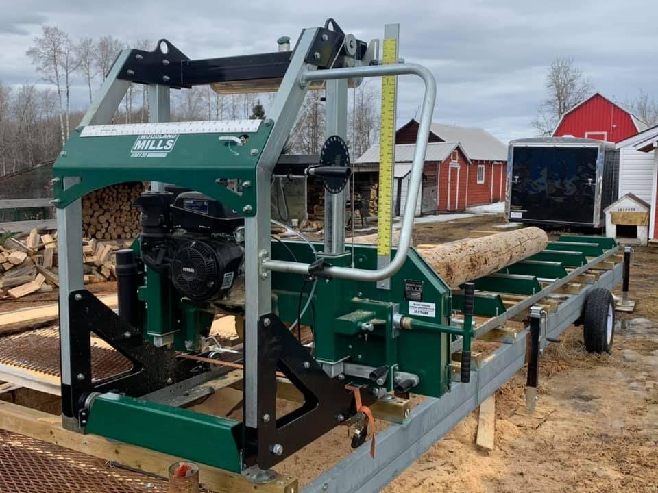 Hm130max portable sawmill portable sawmill woodland