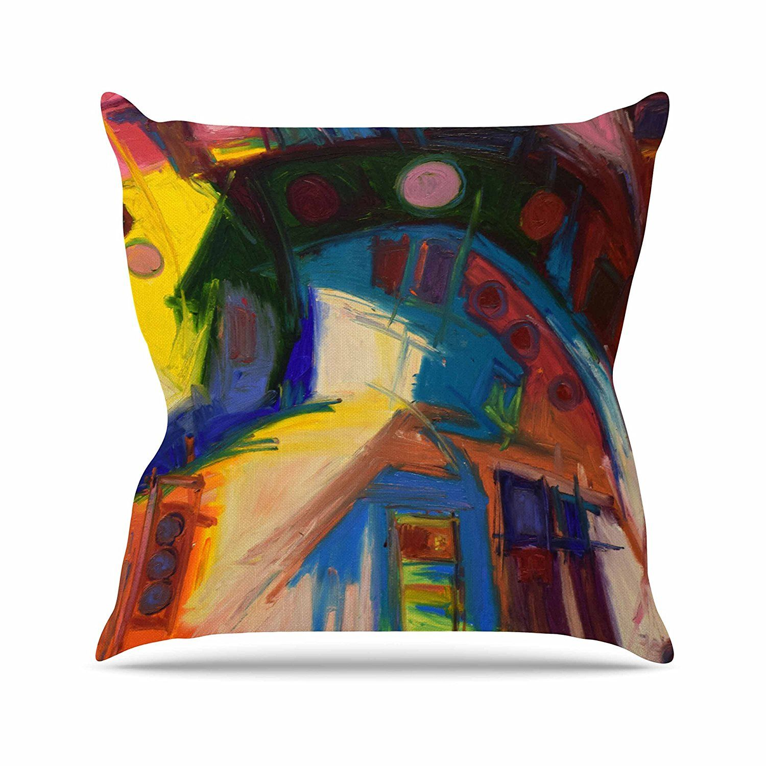 Kess InHouse Art Love Passion Squirrel Teal Brown 23 x 23 Square Floor Pillow