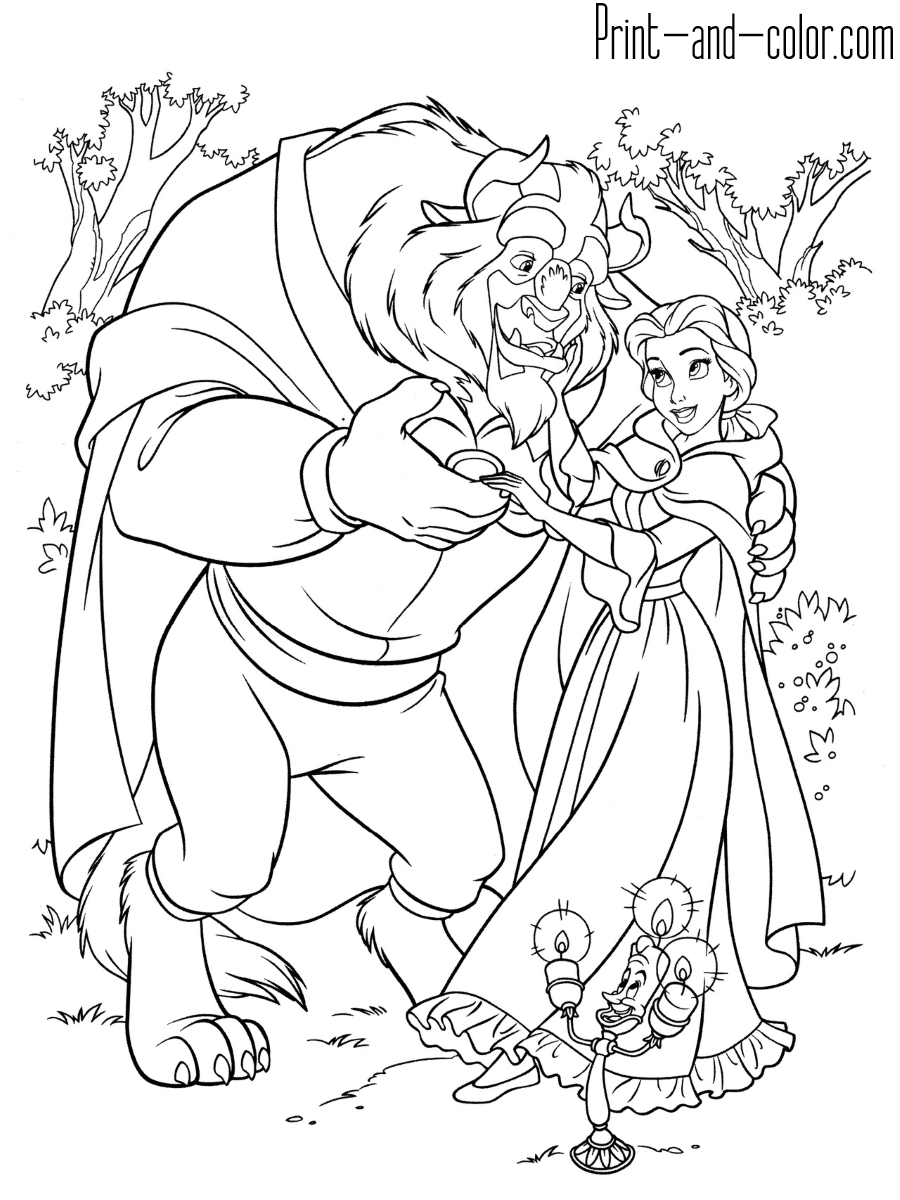 Beauty And The Beast Disney Coloring Pages Princess Coloring Pages Disney Princess Coloring Pages