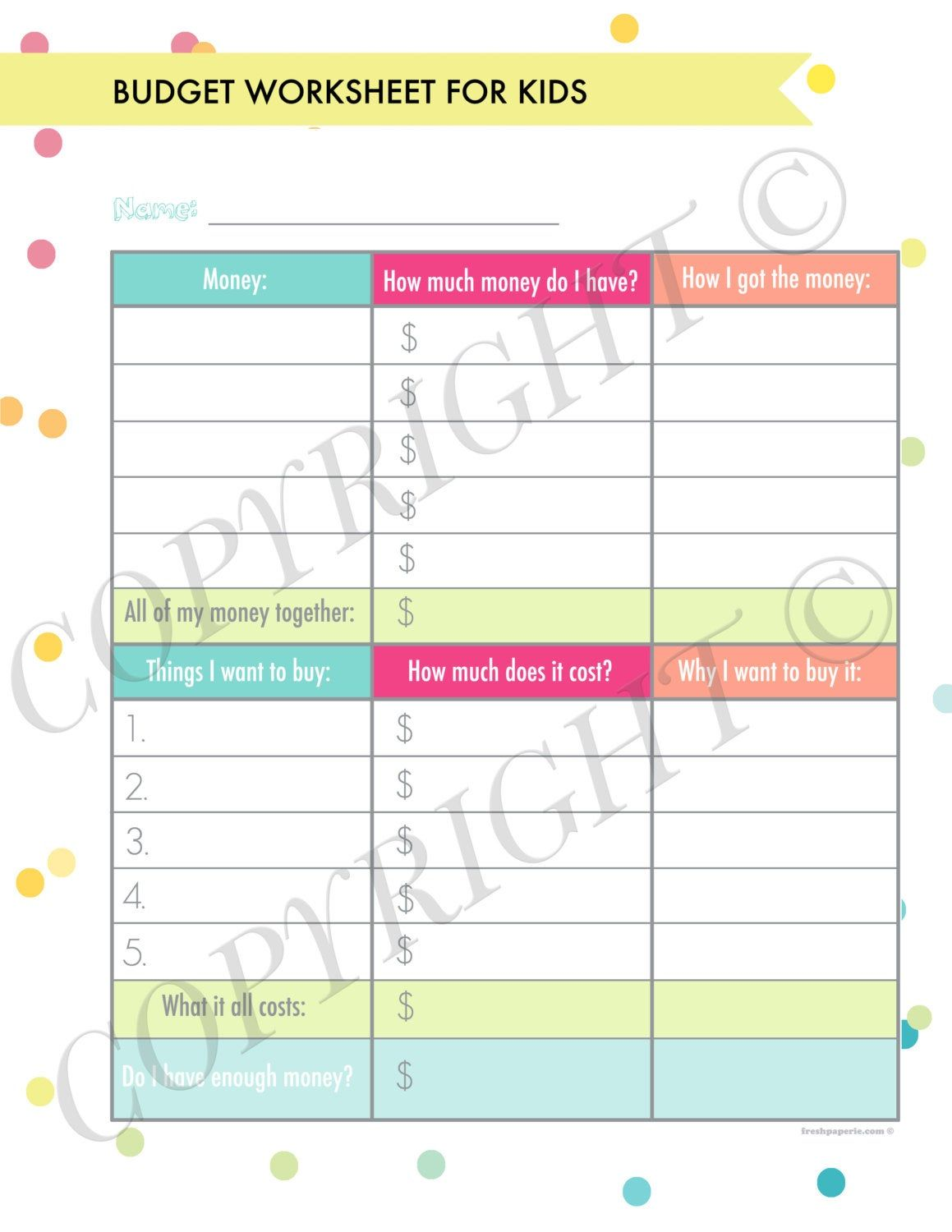 Personal Finance Organizer Printables