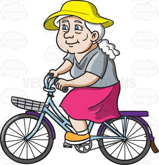 A Female Senior Citizen Spends Her Day In A Bike | Products, Bikes ...