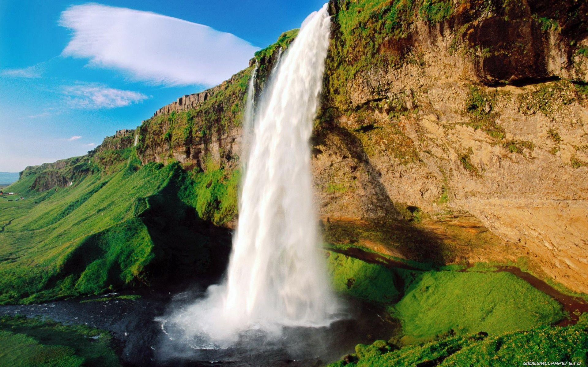 Beautiful Waterfall Picture Waterfall Waterfall Wallpaper Seljalandsfoss Waterfall