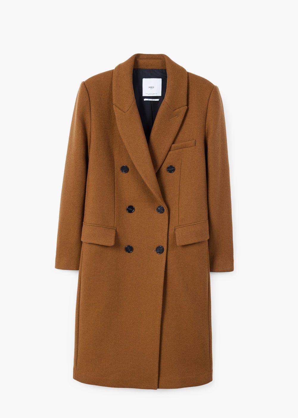 nueva colección última tecnología Tener cuidado de Abrigo lana solapas - Mujer | Coats | Abrigos invierno mujer ...