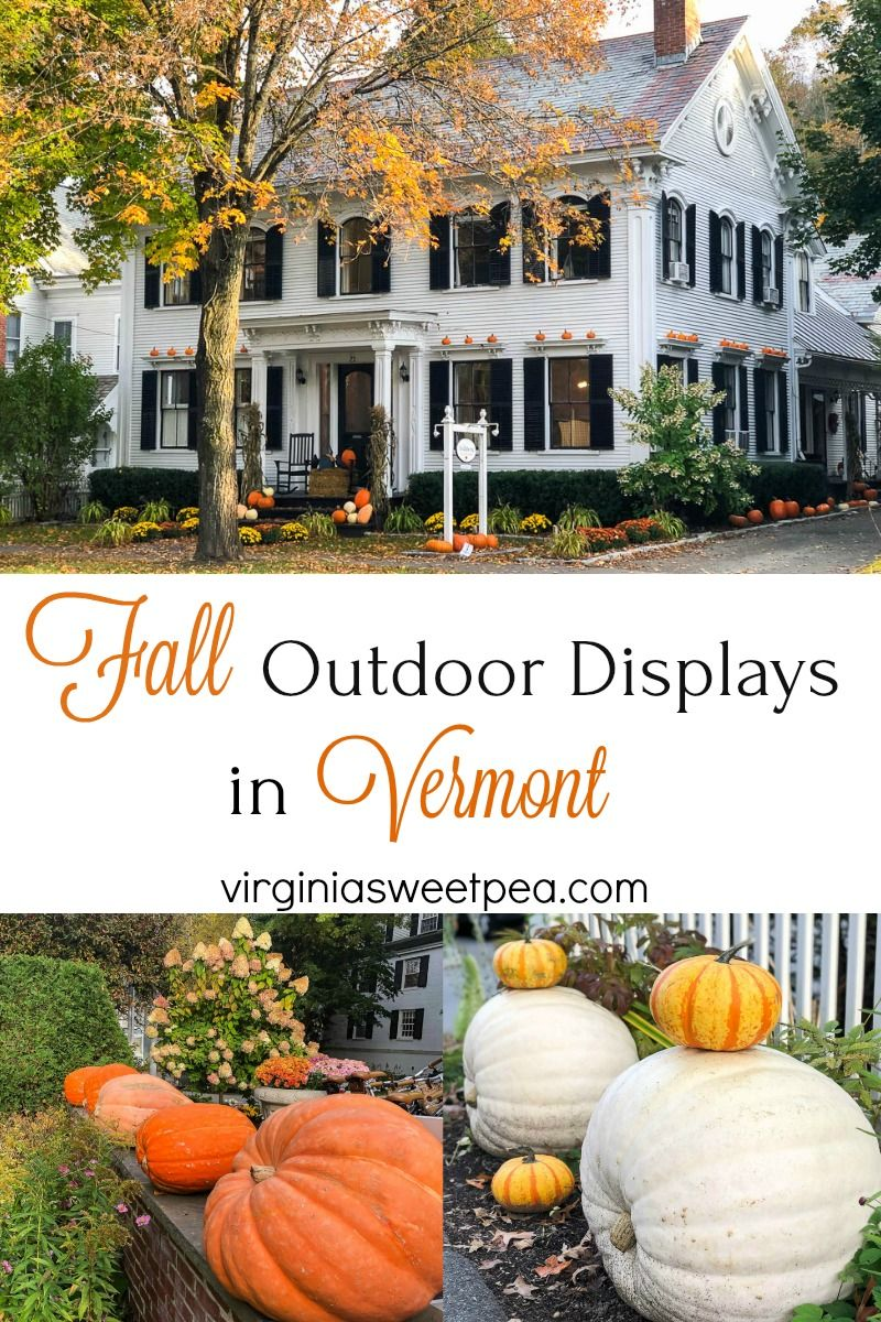 Beautiful Fall Outdoor Displays in Vermont - Sweet Pea