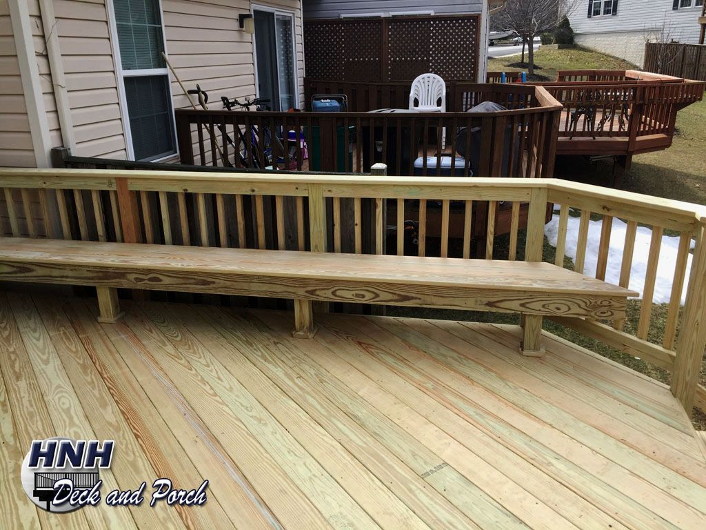 Prime Acq Pressure Treated Pine Wood Deck With Bench Deck Yard Spiritservingveterans Wood Chair Design Ideas Spiritservingveteransorg