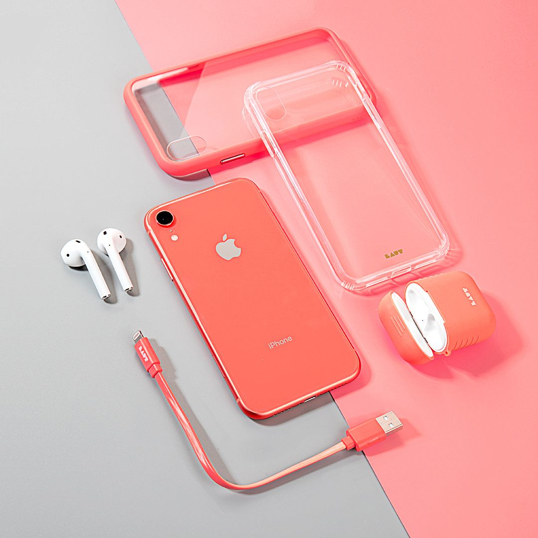 Getting The New Coral Iphone Xr We Ve Got You Covered Featuring Link Duo Lightning Cable Accents Tempered Glass Ca Iphone Phone Cases Iphone Iphone Phone