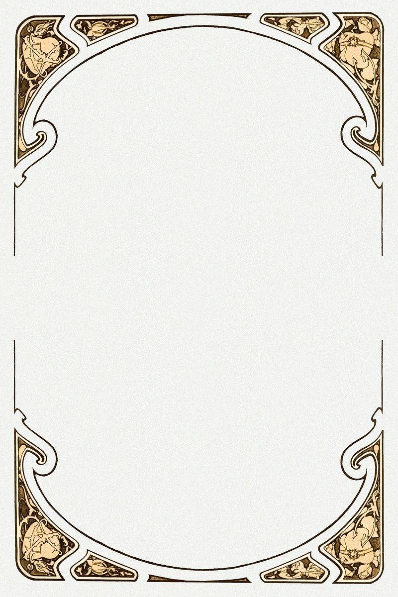 Download Premium Illustration Of Psd Art Nouveau Frame Remixed From The Art Nouveau Frame Design Alfons Maria Mucha