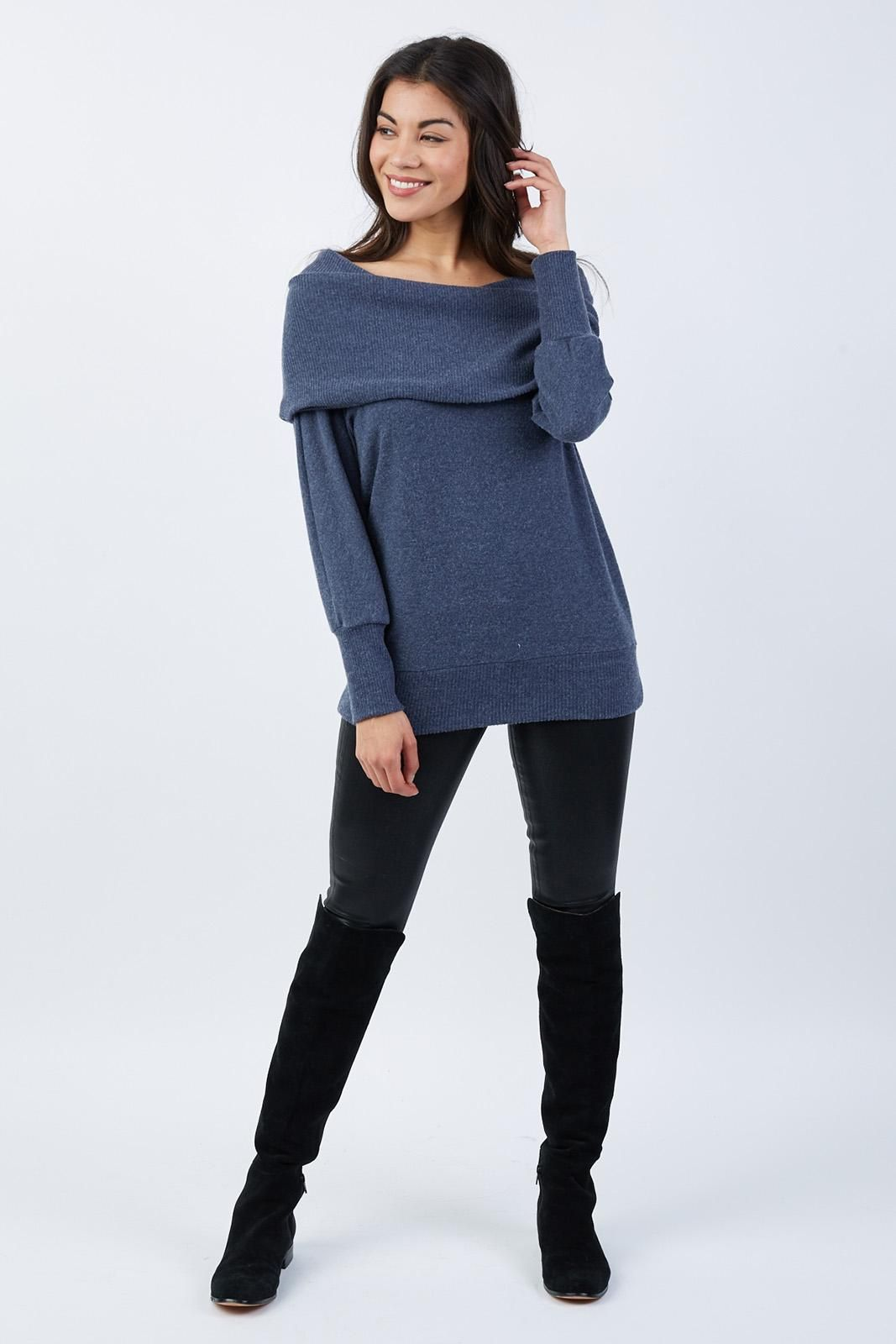 d56212d78606d YES!!!! I NEED THIS IN BLUE!!!! Madison Brushed Jersey Off Shoulder ...