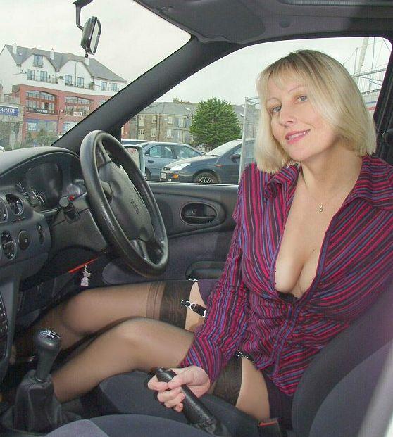 Mature in car photos