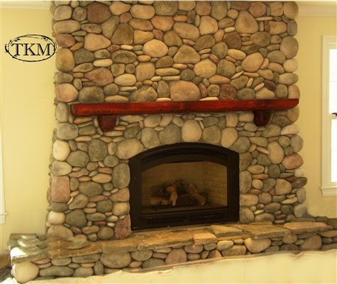 Round River Stone Fireplace Stone Fireplace Fireplace River