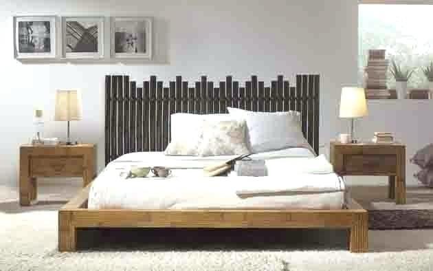 bas de lit lits avec pied de lit bas en bambou modacle sulawasi daccoration beltran votre - Lit Bas