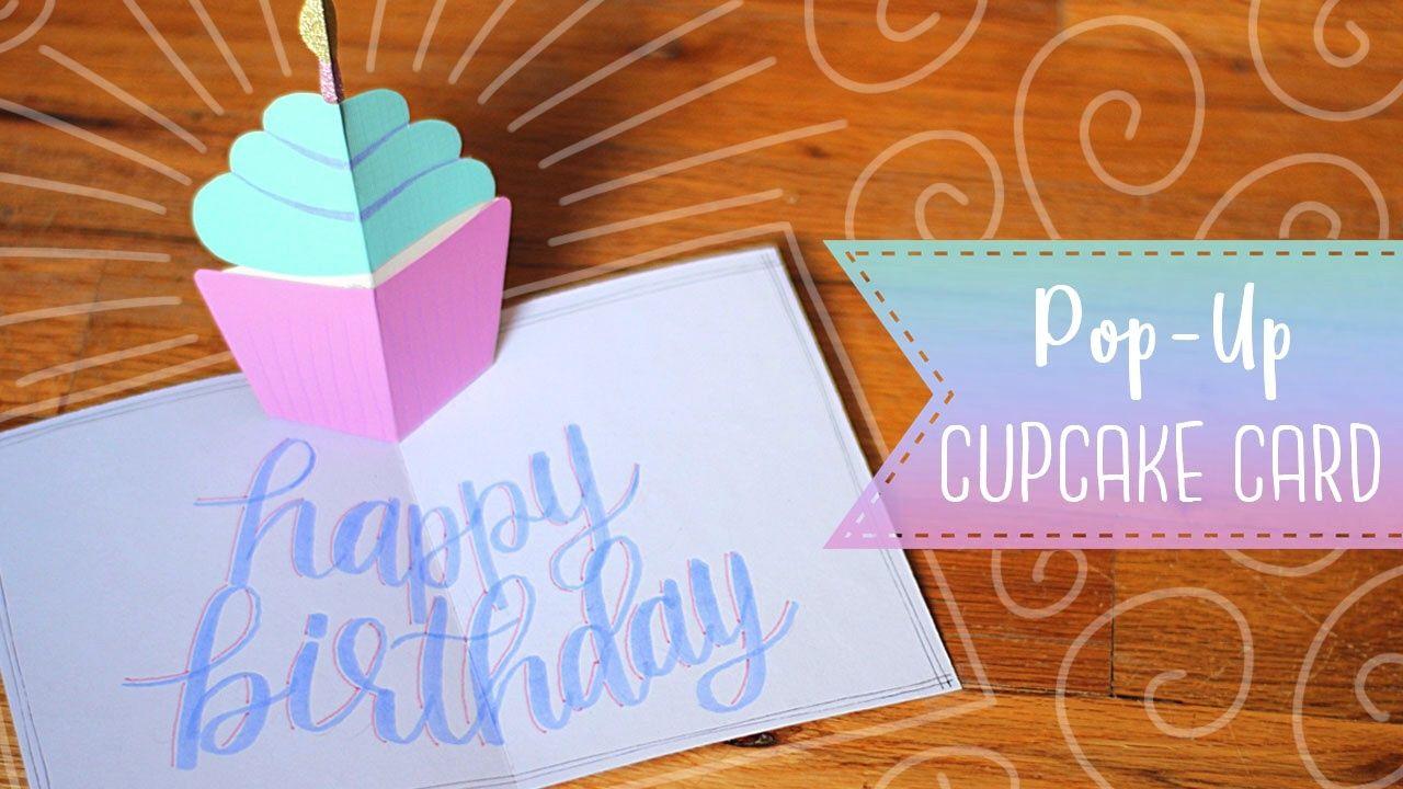 Easy Pop Up Birthday Cupcake Card Tutorial Essyjae Birthday Card Pop Up Birthday Cards Cupcake Birthday Cards