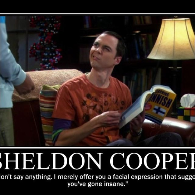May The 4th Be With You Sheldon Cooper: Sheldon Cooper, The King Of Nonverbal Communication.