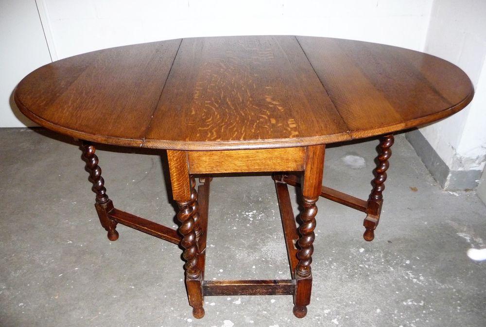 Gateleg Tisch.Tisch Gateleg Klapptisch Eiche Massiv England Beistelltisch